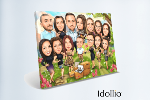 """Karikatura Idollio 1 <h1 style=""""text-align: center;""""><strong>[title text=""""PERSONALIZED PORTRAIT CARICATURE OF THE GROUP"""" style=""""center""""]</strong></h1> <strong>You will submit photos and your instructions for making a portrait in the form that appears after the order has been placed.</strong> <ul> <li>Handwork</li> <li>Portrait made exactly to your requirements</li> <li>Fast production in 2 - 7 working days</li> <li>The perfect gift for everyone</li> <li>We redraw from the photos and based on your instructions. Send us your ideas.</li> </ul> [message_box bg] <strong>The most unique gift you can give to your loved ones. An emotional response is guaranteed!</strong>[/message_box]"""