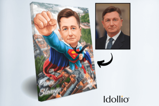 """Karikatura Borut Pahor <h1 style=""""text-align: center;""""><strong>[title text=""""PERSONALIZED PORTRAIT CARICATURE"""" style=""""center""""]</strong></h1> <ul> <li>Handwork</li> <li>Caricature made completely according to your requirements</li> <li>Fast production in 2 - 7 working days</li> <li>The perfect gift for everyone</li> <li>Complete freedom in creating. Let the imagination have no limits.</li> <li>We draw from the photos and based on your instructions. Send us your ideas.</li> </ul> [message_box bg] <strong>The most unique gift you can give to your loved ones. The emotional response will be invaluable! </strong>[/message_box]"""