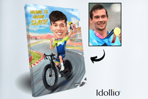 """Karikatura Primoz Roglic <h1 style=""""text-align: center;""""><strong>[title text=""""PERSONALIZED PORTRAIT CARICATURE"""" style=""""center""""]</strong></h1> <ul> <li>Handwork</li> <li>Caricature made completely according to your requirements</li> <li>Fast production in 2 - 7 working days</li> <li>The perfect gift for everyone</li> <li>Complete freedom in creating. Let the imagination have no limits.</li> <li>We draw from the photos and based on your instructions. Send us your ideas.</li> </ul> [message_box bg] <strong>The most unique gift you can give to your loved ones. The emotional response will be invaluable! </strong>[/message_box]"""