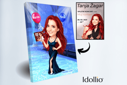 """Karikatura Tanja Zagar <h1 style=""""text-align: center;""""><strong>[title text=""""PERSONALIZED PORTRAIT CARICATURE"""" style=""""center""""]</strong></h1> <ul> <li>Handwork</li> <li>Caricature made completely according to your requirements</li> <li>Fast production in 2 - 7 working days</li> <li>The perfect gift for everyone</li> <li>Complete freedom in creating. Let the imagination have no limits.</li> <li>We draw from the photos and based on your instructions. Send us your ideas.</li> </ul> [message_box bg] <strong>The most unique gift you can give to your loved ones. The emotional response will be invaluable! </strong>[/message_box]"""