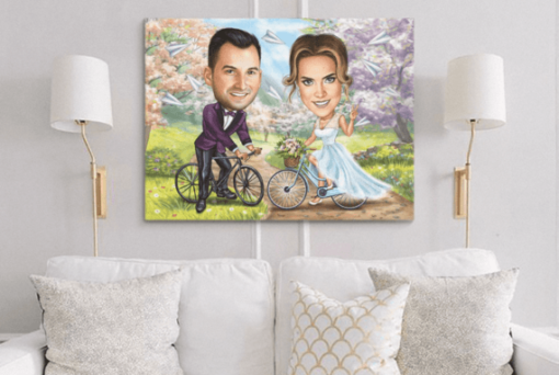 """Karikatura poroke <h1 style=""""text-align: center;""""><strong>[title text=""""PERSONALIZED PORTRAIT CARICATURE"""" style=""""center""""]</strong></h1> <ul> <li>Handwork</li> <li>Caricature made completely according to your requirements</li> <li>Fast production in 2 - 7 working days</li> <li>The perfect gift for everyone</li> <li>Complete freedom in creating. Let the imagination have no limits.</li> <li>We draw from the photos and based on your instructions. Send us your ideas.</li> </ul> [message_box bg] <strong>The most unique gift you can give to your loved ones. The emotional response will be invaluable! </strong>[/message_box]"""