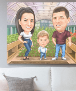 """Karikatura v dneni sobi <h1 style=""""text-align: center;""""><strong>[title text=""""PERSONALIZED PORTRAIT CARICATURE"""" style=""""center""""]</strong></h1> <ul> <li>Handwork</li> <li>Caricature made completely according to your requirements</li> <li>Fast production in 2 - 7 working days</li> <li>The perfect gift for everyone</li> <li>Complete freedom in creating. Let the imagination have no limits.</li> <li>We draw from the photos and based on your instructions. Send us your ideas.</li> </ul> [message_box bg] <strong>The most unique gift you can give to your loved ones. The emotional response will be invaluable! </strong>[/message_box]"""