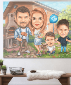 """Karikatura v sobi <h1 style=""""text-align: center;""""><strong>[title text=""""PERSONALIZED PORTRAIT CARICATURE"""" style=""""center""""]</strong></h1> <ul> <li>Handwork</li> <li>Caricature made completely according to your requirements</li> <li>Fast production in 2 - 7 working days</li> <li>The perfect gift for everyone</li> <li>Complete freedom in creating. Let the imagination have no limits.</li> <li>We draw from the photos and based on your instructions. Send us your ideas.</li> </ul> [message_box bg] <strong>The most unique gift you can give to your loved ones. The emotional response will be invaluable! </strong>[/message_box]"""