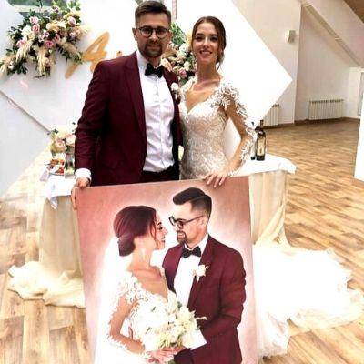 Darilo za poroko - portret mladoporočencev