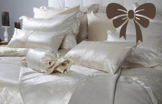 Svilena posteljnina darilo za poroko